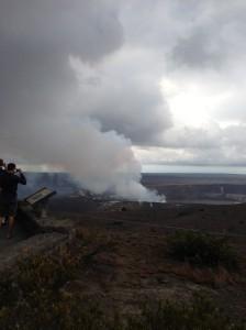 Sulfur fumes from Kilauea
