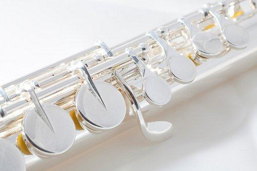 Alto flute with, what I believe to be, saxophone keys